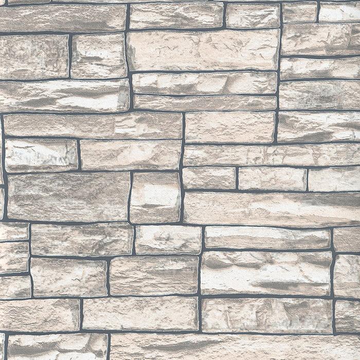 tapete naturstein 2 56 m 3d vliestapete stein in 3. Black Bedroom Furniture Sets. Home Design Ideas