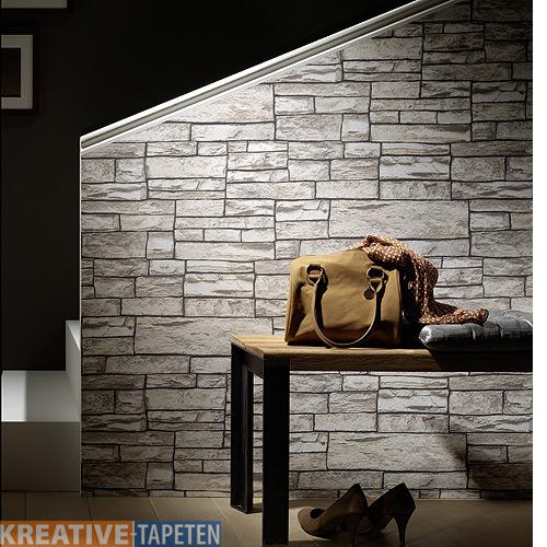 tapete steinoptik einrichtungsgegenst nde einebinsenweisheit. Black Bedroom Furniture Sets. Home Design Ideas